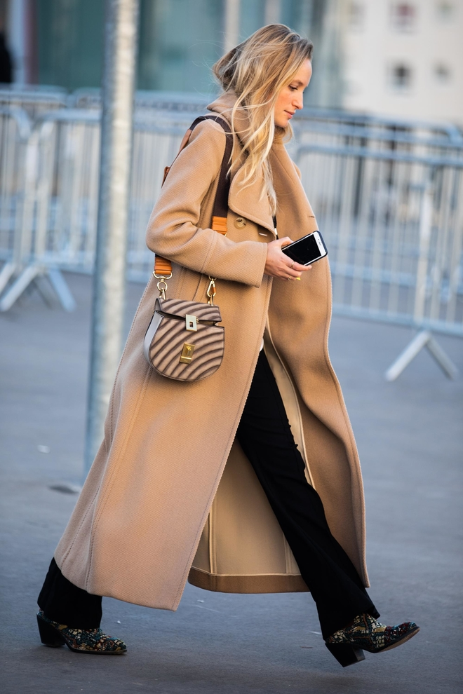 long camel coat for winter