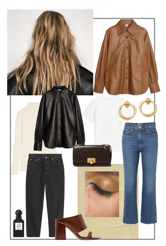 how to wear leather shirt