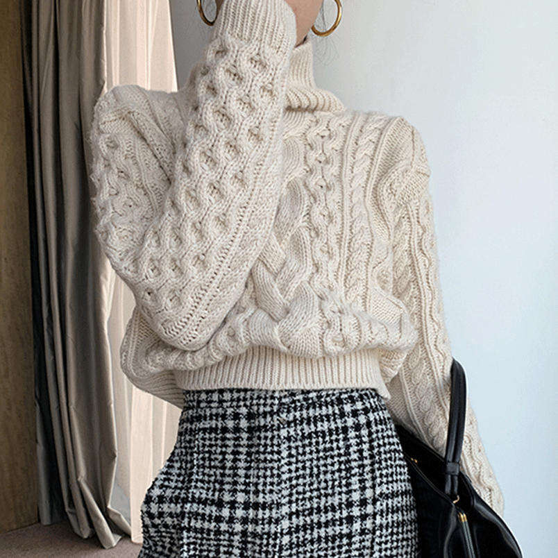cable knit sweater professional winter work outfits