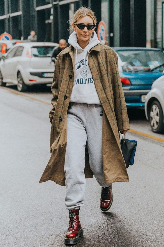 chic way to wear a tracksuit