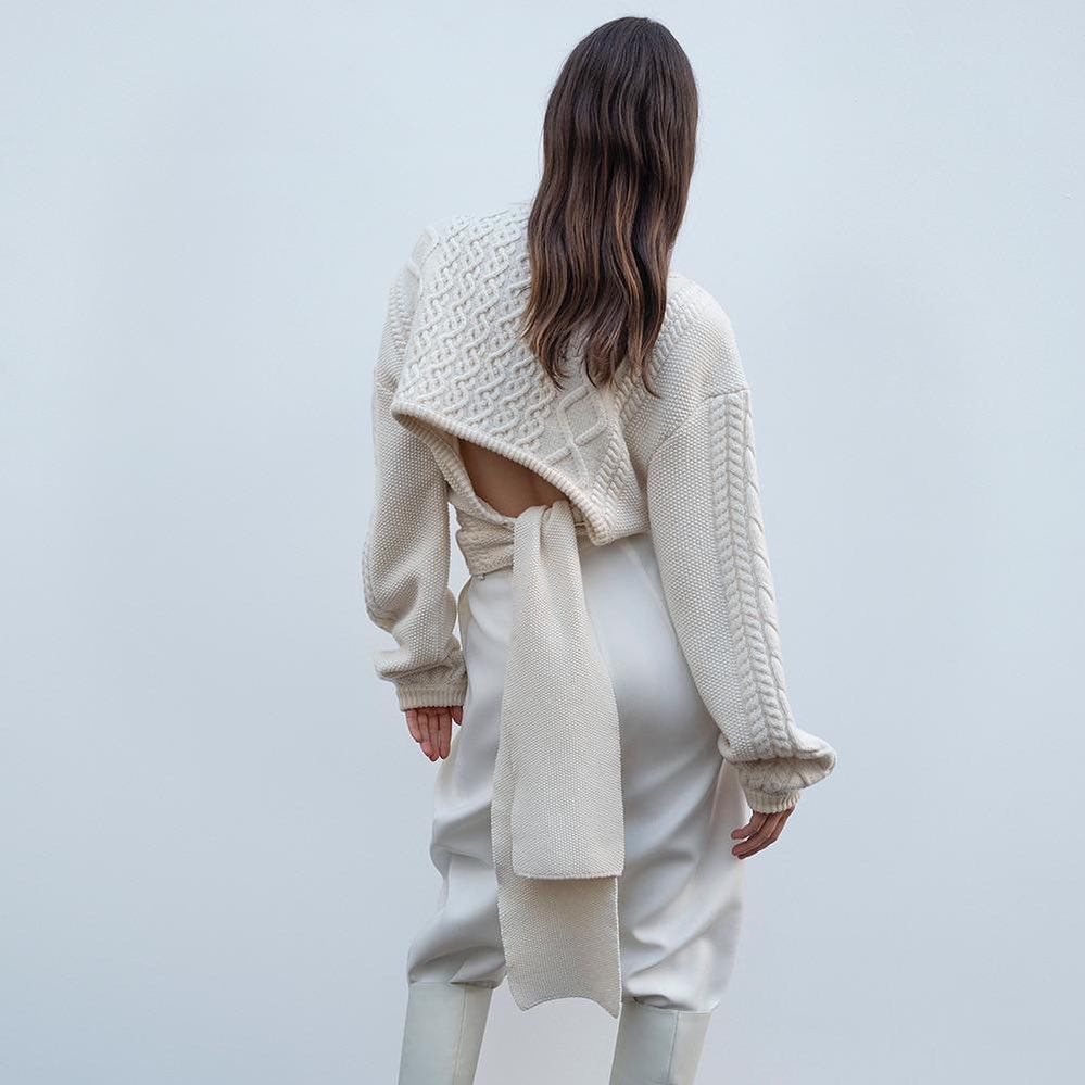 Magda Butrym's Braid City wool and a cashmere-blend cable-knit sweater