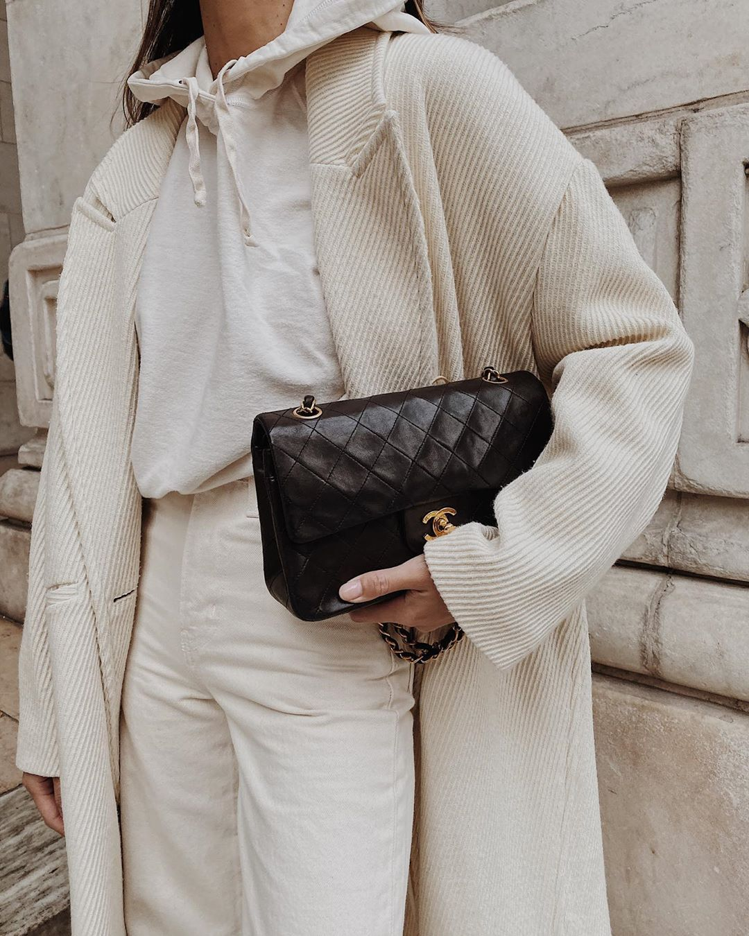 monochrome winter outfit