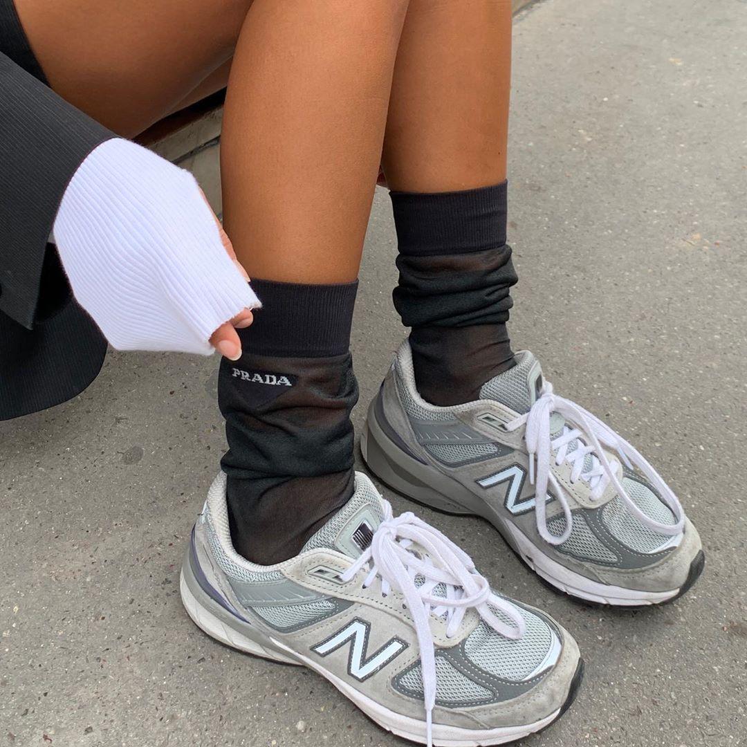 new balance shoes with prada socks