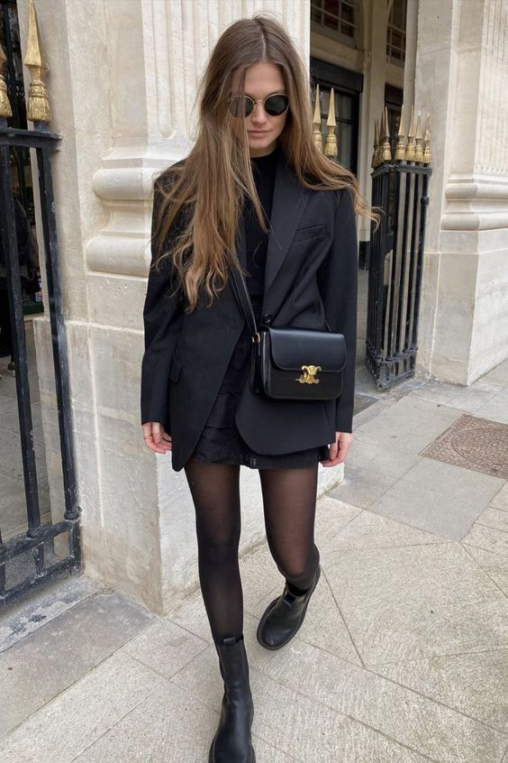 20 Ways To Wear an Oversized Blazer If You Love Short Skirts and Dresses - Outfitting Ideas