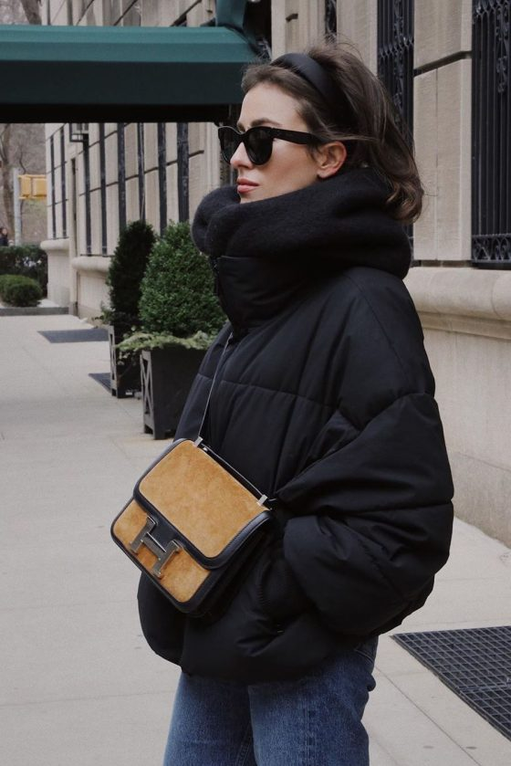 cozy and chic winter outfit idea