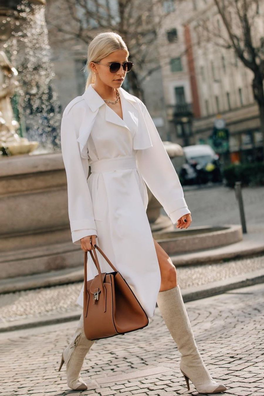 How to style trench coat for spring