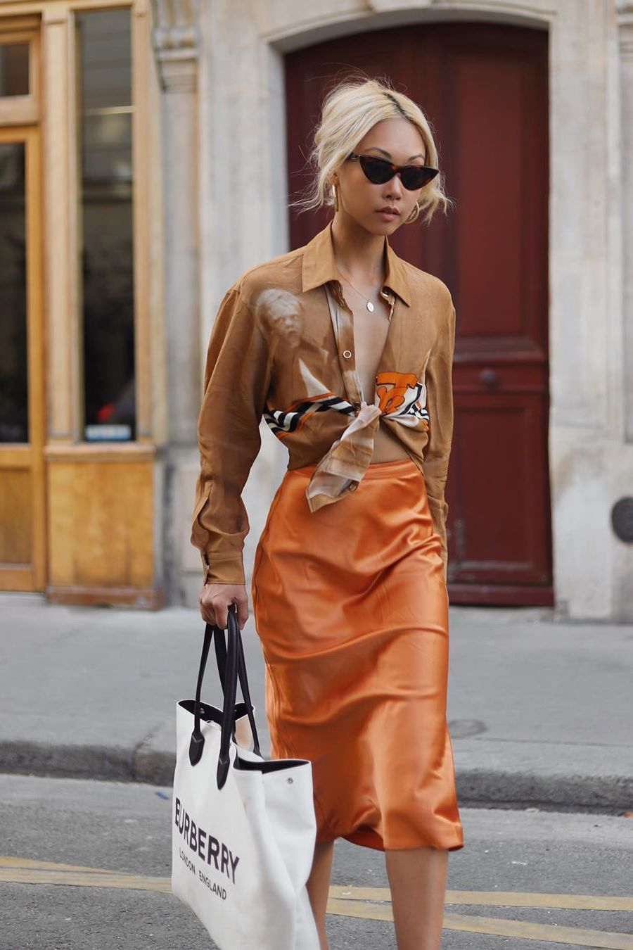 oversized-button-down-shirt-with-slip-skirt-outfit