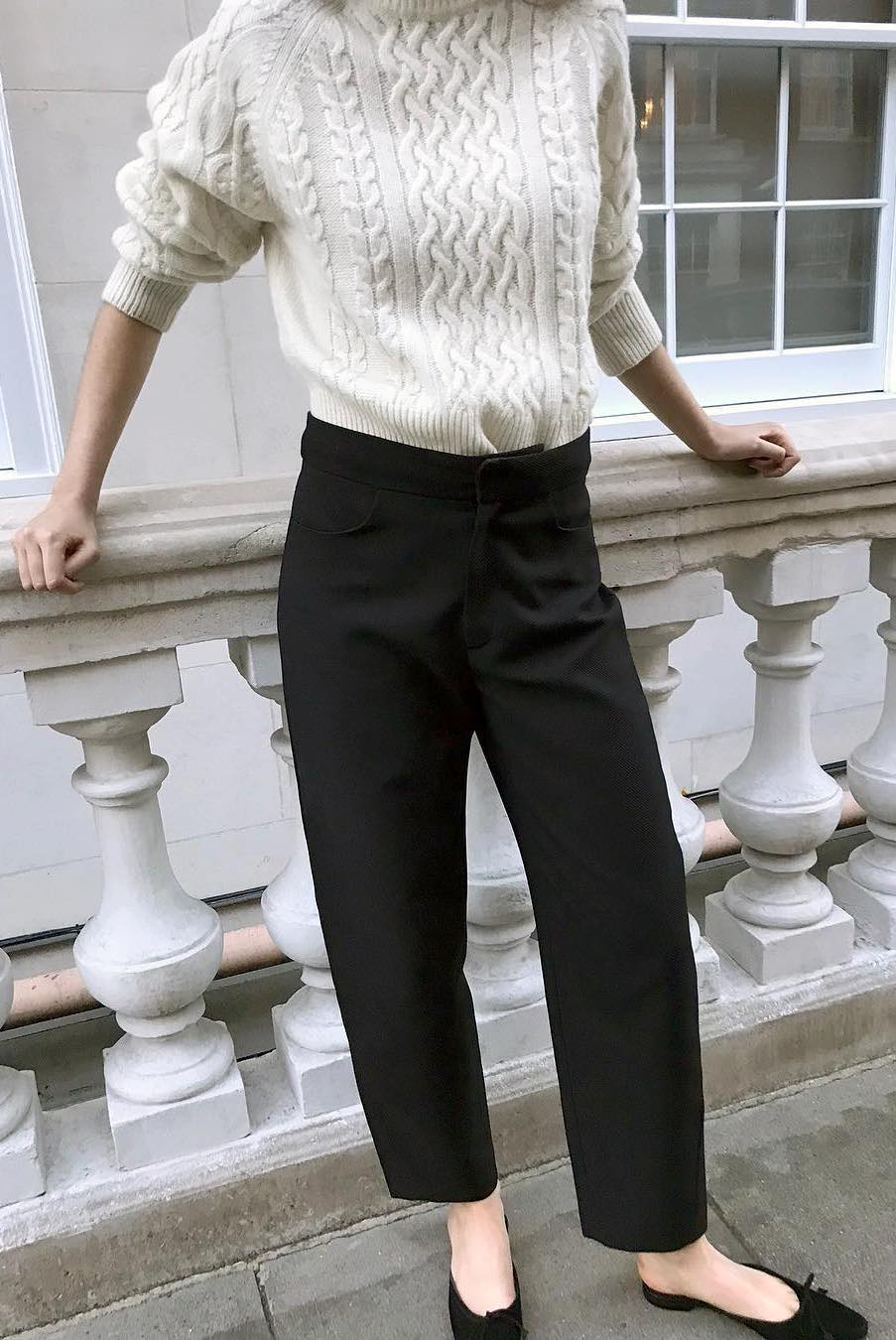 Black trousers effortless outfit