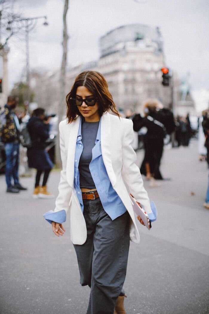 how to wear white blazer for spring 2020