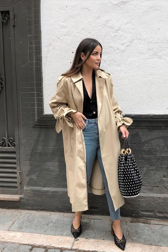 trench coat outfit for spring