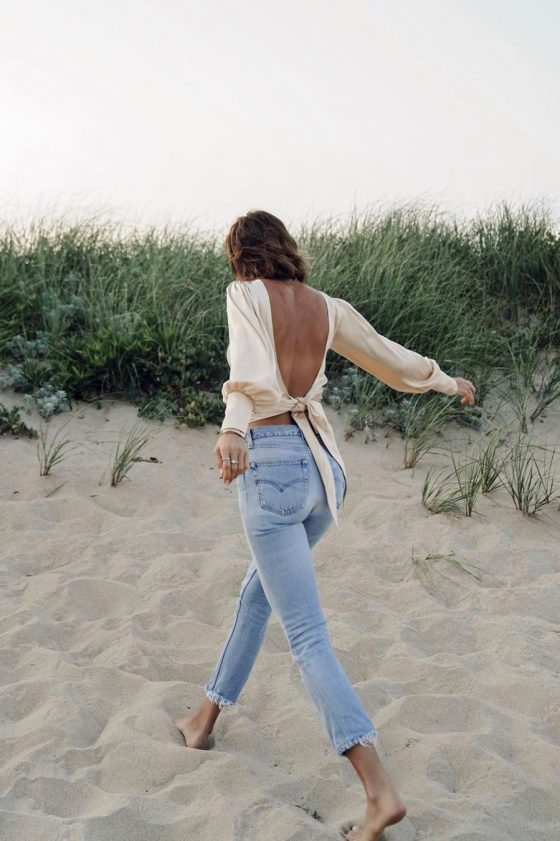 open back top with jeans summer trends 2020