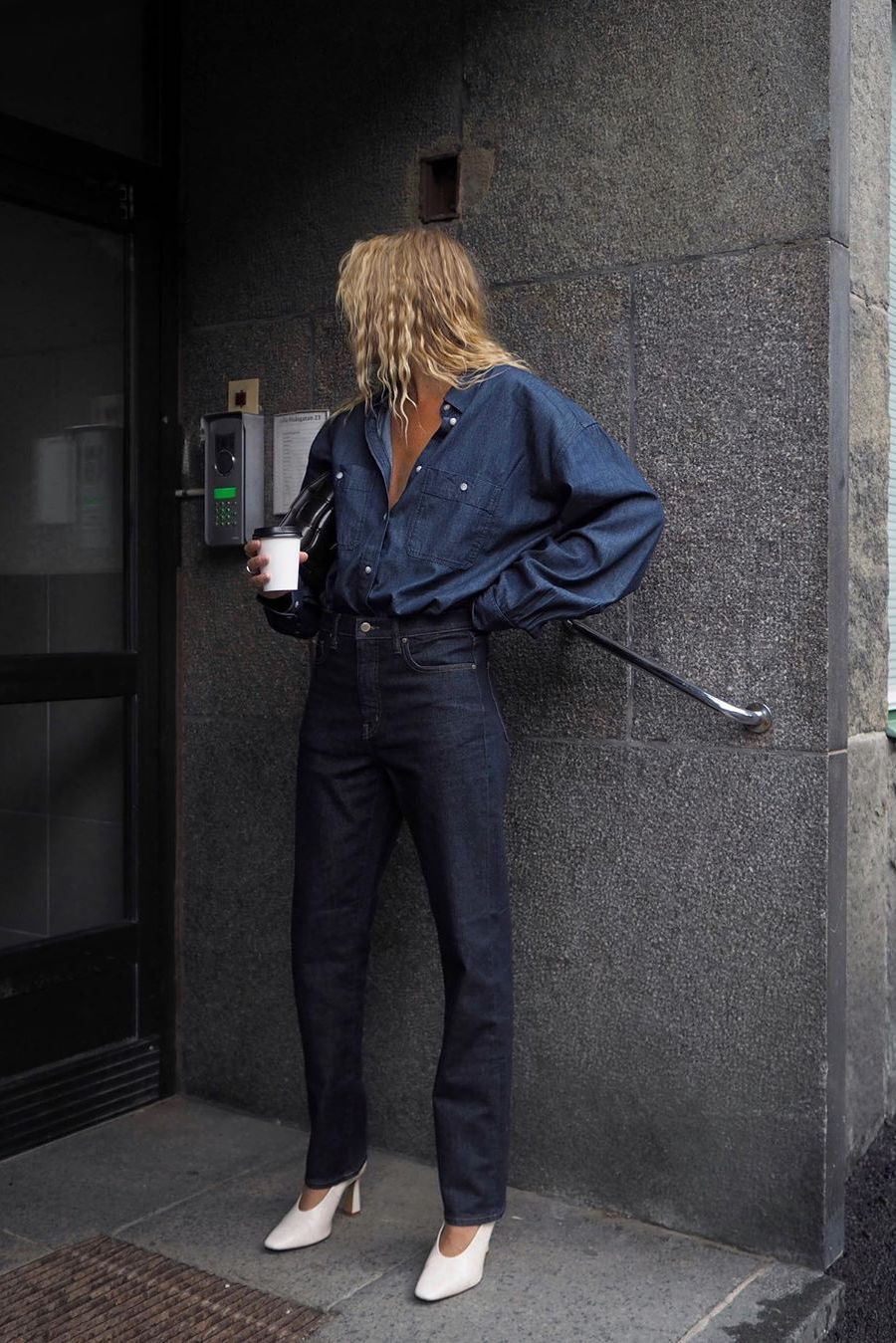 denim on denim outfit 2020