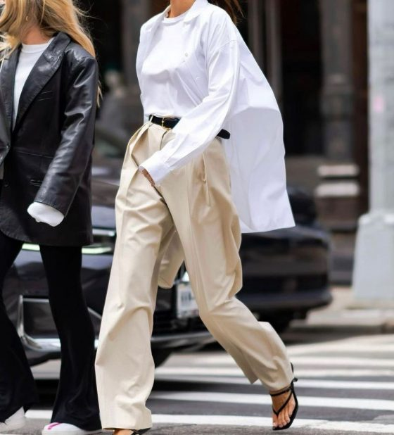 how to wear oversize white button down