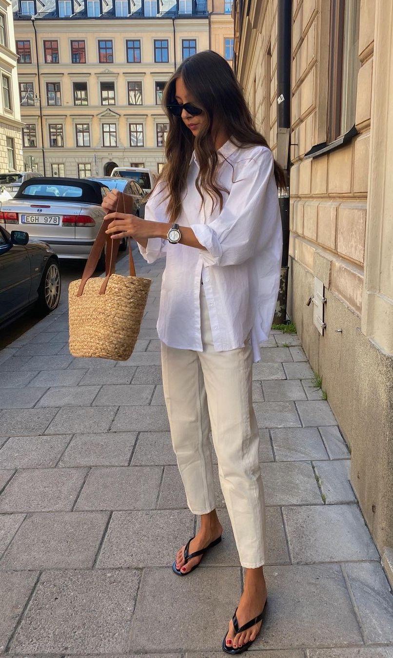 summer capsule wardrobe button down shirt