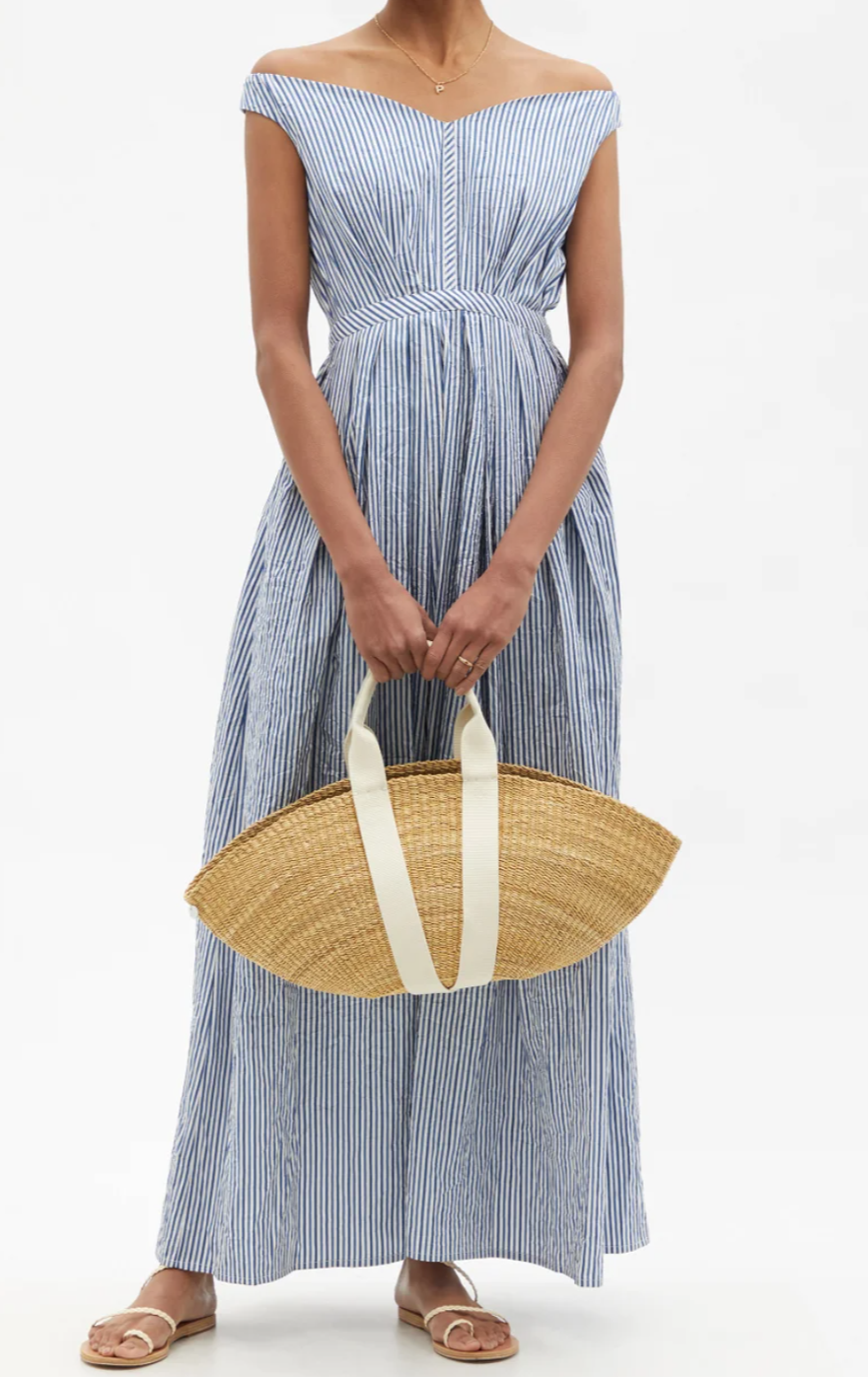 How to style striped maxi dress