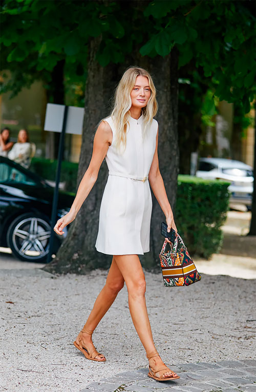 chic all white outfit for summer